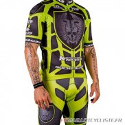 MAILLOT Rock Racing MANCHES COURTES Vert 2016