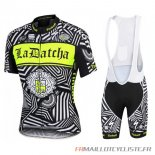 MAILLOT Tinkoff MANCHES COURTES Noir 2016