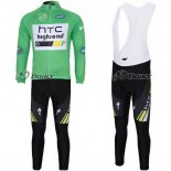2011 Maillot HTC Highroad Termico Pantalones Con Peto verde y bl