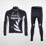 2011 Maillot HTC Highroad Termico Pantalones Con Peto negro y bl
