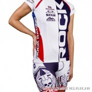 MAILLOT Rock Racing MANCHES COURTES Femmes Blanc 2016