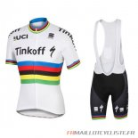 MAILLOT Tinkoff MANCHES COURTES Blanc 2016