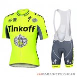 MAILLOT Tinkoff MANCHES COURTES Vert 2016